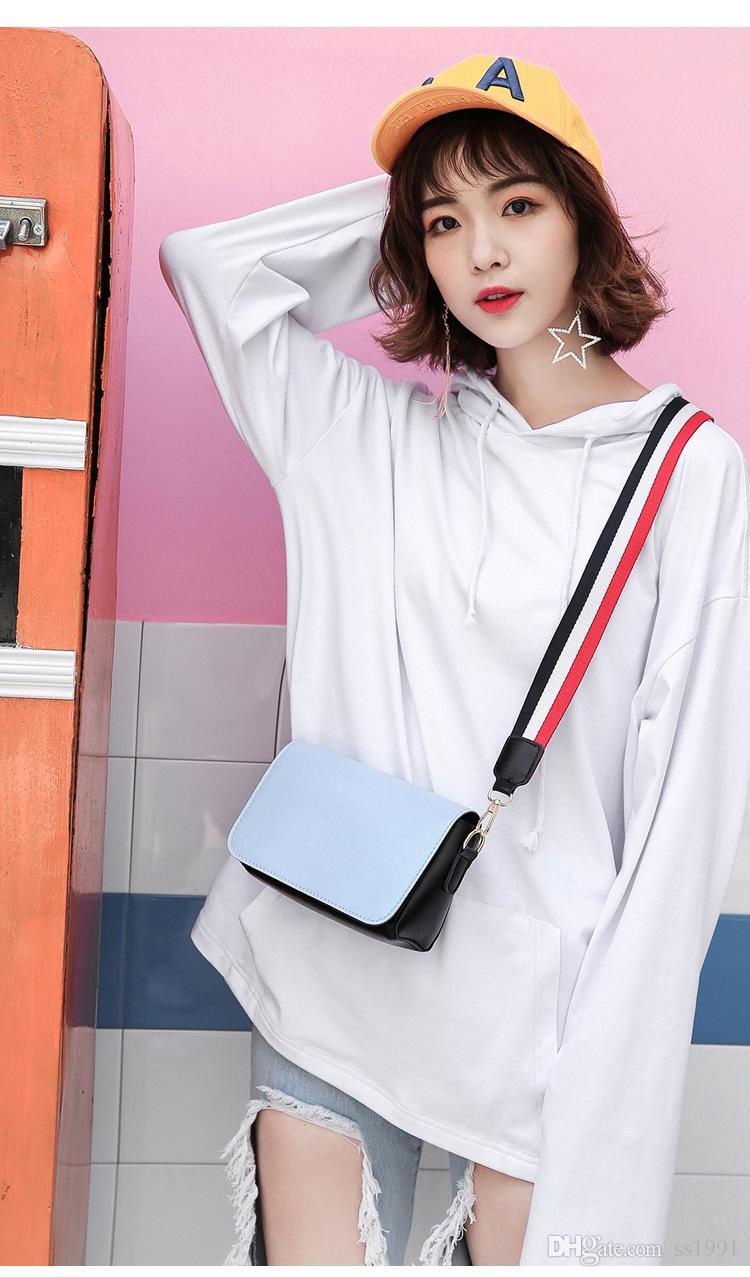 2017 yaz yeni gelgit paketi liman rüzgar geniş omuz askısı Messenger çanta paket Harajuku rüzgar omuz çantası basit küçük kare çanta 170620