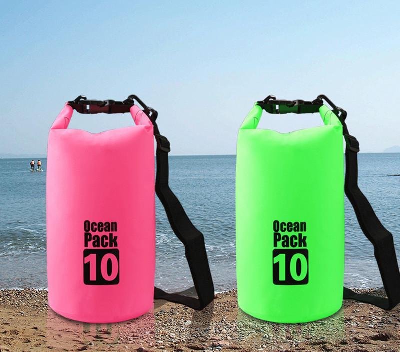 10L Waterproof Dry Bag Floating Gear Bags Ocean Pack for Boating,Kayaking,Fishing,Beach,Rafting,Swimming,Camping,Canoeing and Snowboarding