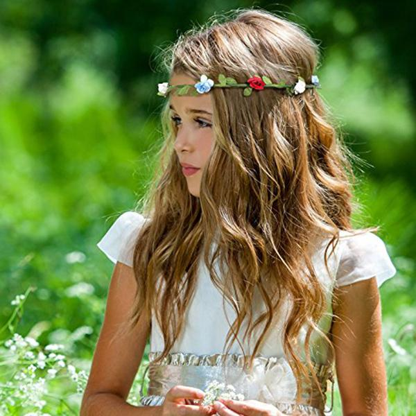 Fasion muticolor floral boho girl hairband mini flower garland fasion muticolor floral boho girl hairband mini flower garland headband crown festival party wedding flower headbands tie trendy hair wreath white hair mightylinksfo