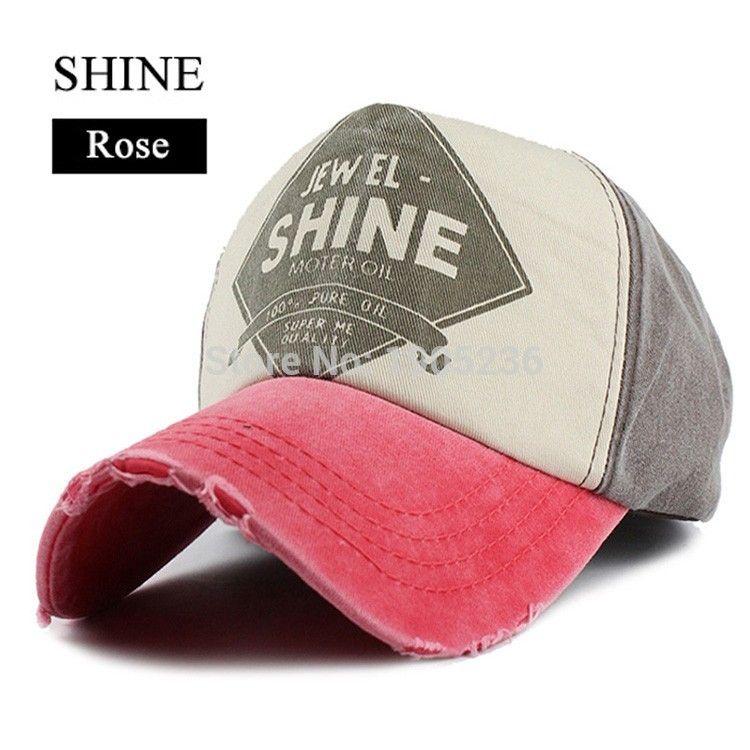 ac57655169c Wholesale- Unisex Cotton Denim Baseball Cap Sport Hats Women Or Men ...