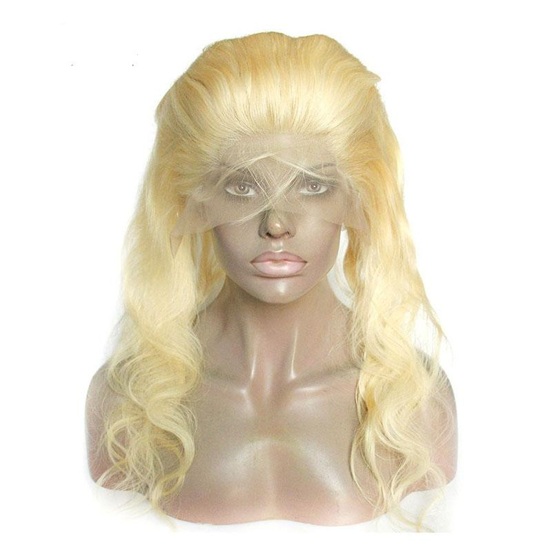 360 Lace Frontal Closure Blonde Body Wave 22.5*4*2 inch 613 Brazilian Virgin Human Hair 360 Lace Frontal With Baby Hair