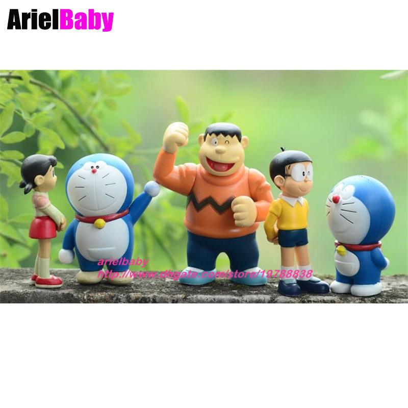 2017 New Doraemon Toys Baby Doll Nobita Nobi Shizuka Minamoto