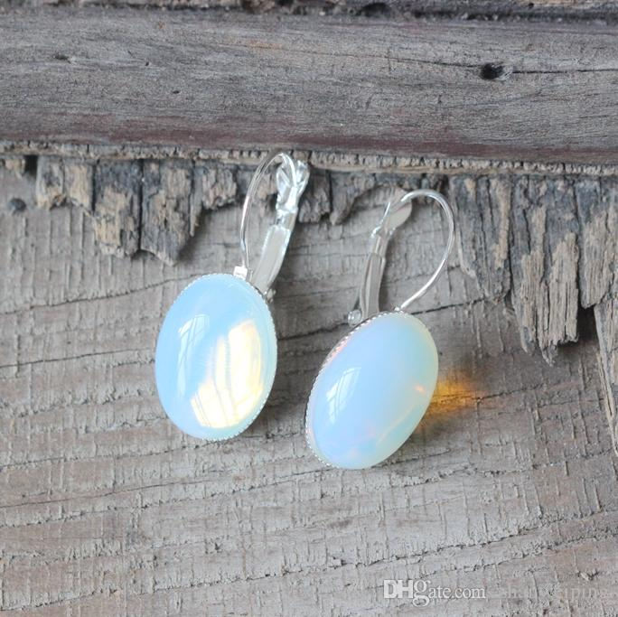 moonstone moon stone gold oval solid store earrings