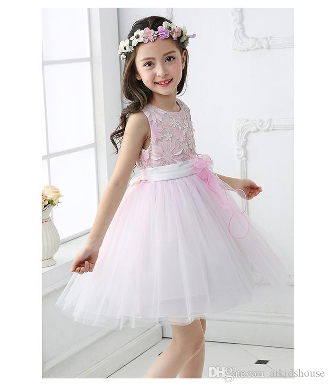 752328b110a Retail Best Selling Summer Casual Baby Girls Princess Birthday Party Dress  Kids Flower Fluffy Wedding Dresses for 6 Years Old Summer Kids Casual Dress  3-10 ...