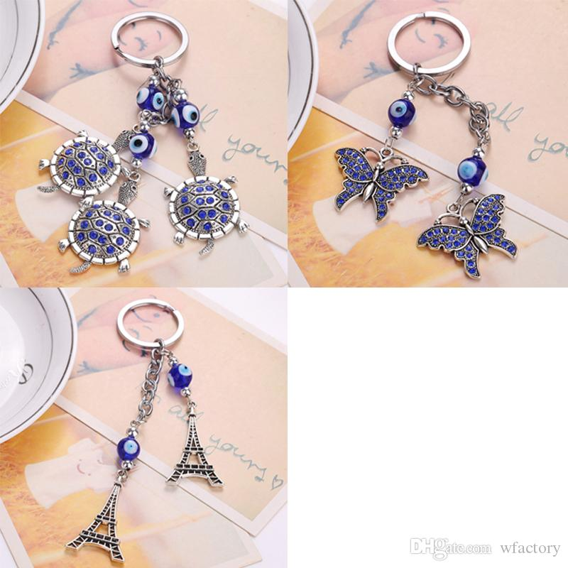 Beautiful Blue Turtles Eiffel Tower Keychains Car Keyring Turkey Blue Eye  Bead Keyring For Women Purse Bag Pendant Accessories Jewelry Custom  Keychains ... e34a5655e6