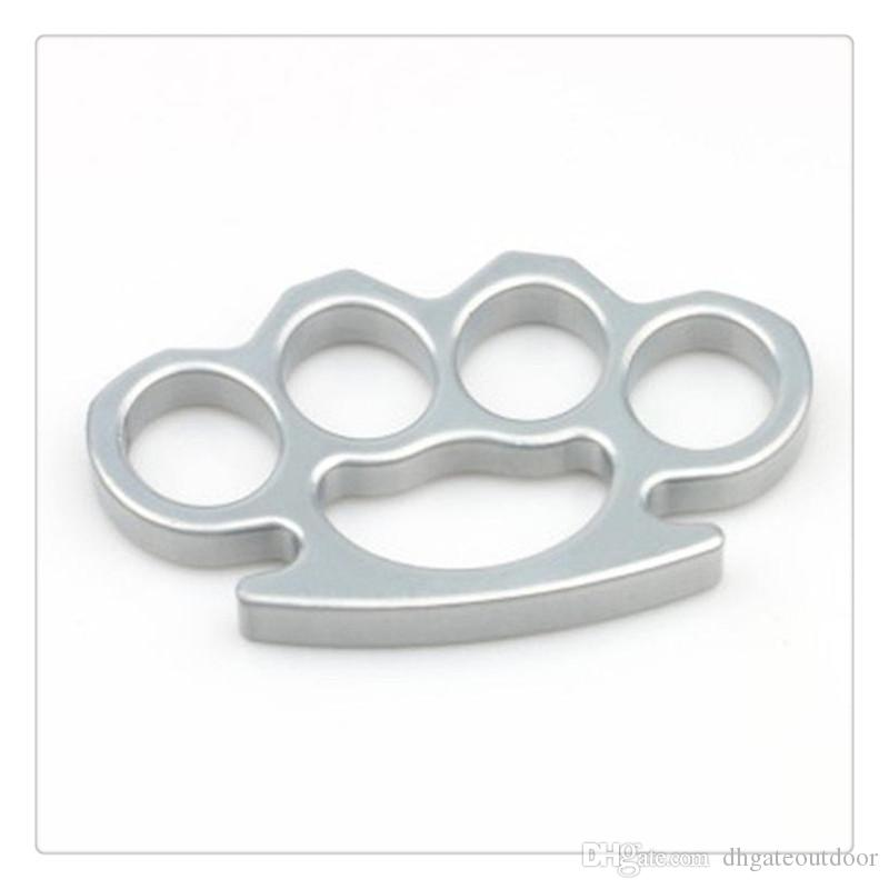 DHL Brass Knuckles Thin Equipment Steel Self Defense Brass Knuckle Dusters Personal Security Hand Buckle Exercise Self-defense Pendant