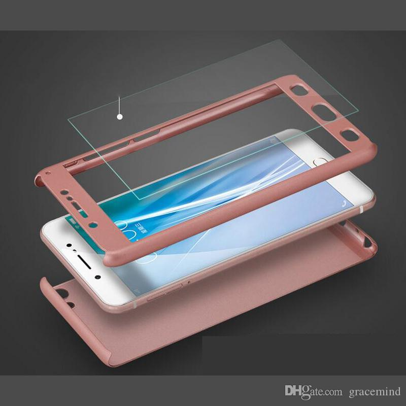360 Degree Matte PC phone case for VIVO X9S Plus X20 Y85 with screen protector full cover cases Back case Phone cover