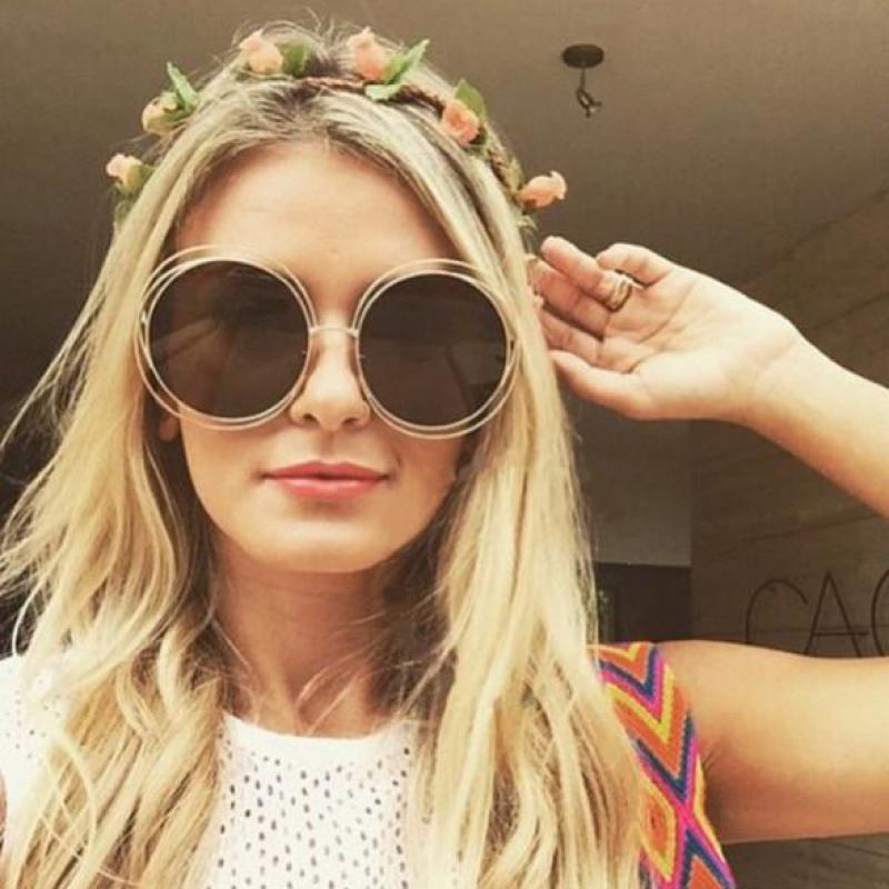 6a28765f1 2017 New Big Circle Round Frame Luxury Brand Designer Sunglasses Female  Fashion Eyeglass Oculos Sun Glasses For Women XB AFJ095 Boots Sunglasses  Tifosi ...