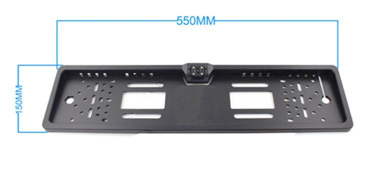 EU Lisence 플레이트 자동차 카메라 유럽 PZ421 렌즈 각도 170도 IP67 방수 DC 12V 무료 DHL