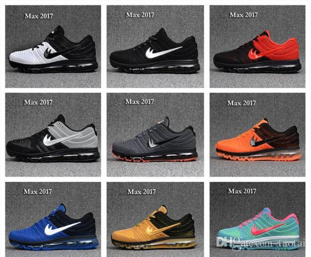 Cheap maxs 2017 Men running shoes Hot selling Original quality maxes 2017 cushion sneaker for mens Newest release sneaker 40-46