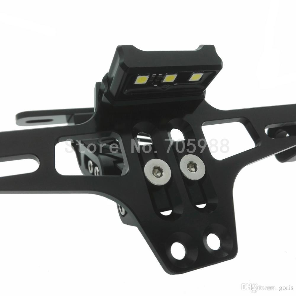 Universal Motorrad Teile motorrad Einstellbare Winkel Aluminium Nummernschild Rahmen Halter Halterung Für Honda Yamaha