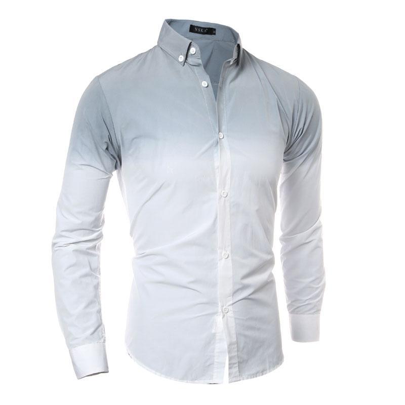 9ea010c5ba2 Wholesale- 3D Gradient Tie-dye Men Shirt 2016 Long Sleeve Mens Dress Shirts  Slim Fit Casual Chemise Homme Camisa Social Masculina Dress Shirt Sale  Dress ...