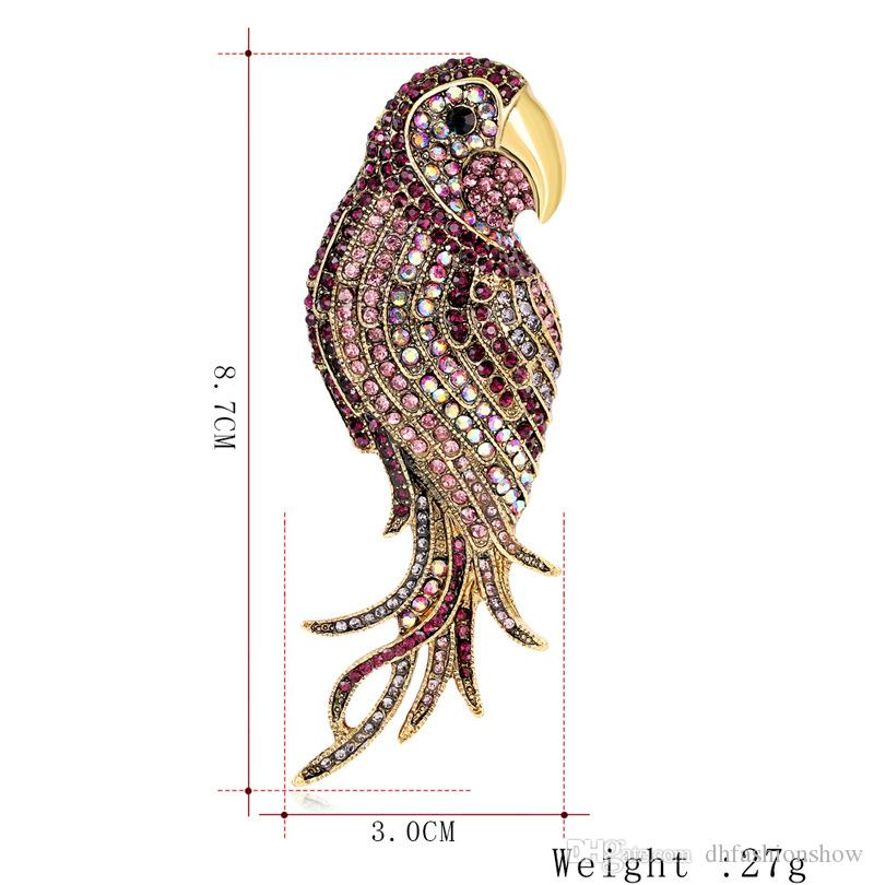 Fashion Bird brooches for women Wedding Broach large Insect pins and brooches ladies Brooches Scarf Clothes Hijab Pins Up