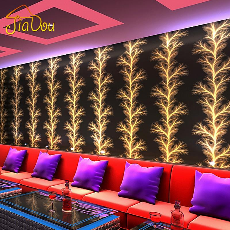 Modern Minimalist Abstract Golden Fireworks Wallpaper KTV Room Bar Aisle Background Mural Gold Foil Wallpaper Papel De Parede