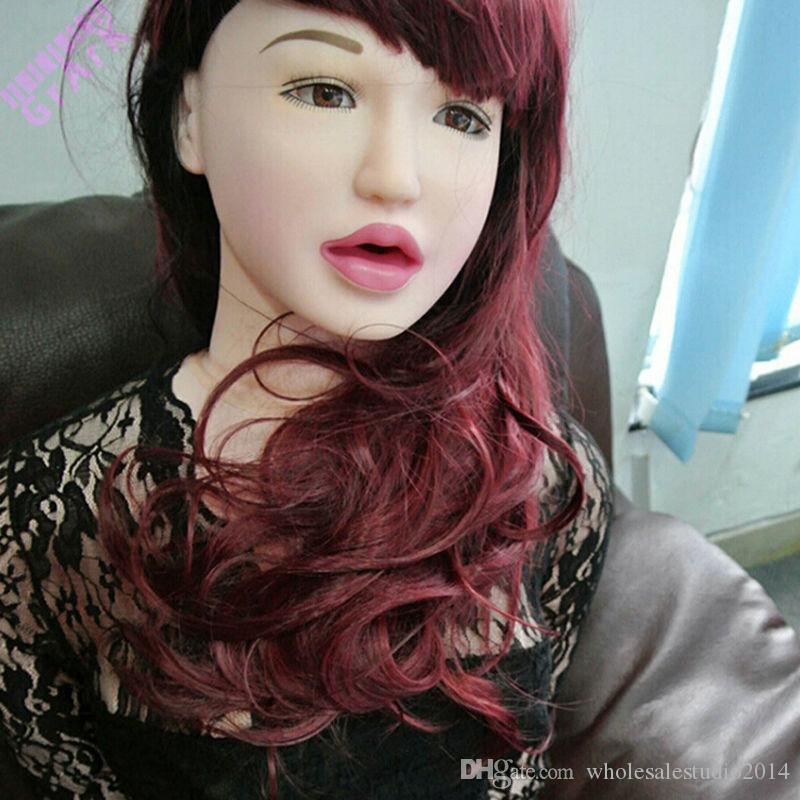 Male Real Silicon Inflatable Sex Doll Oral Vagina Anal Masturbator Breast Dolls With Hair Adult dog Sexy Products For Men