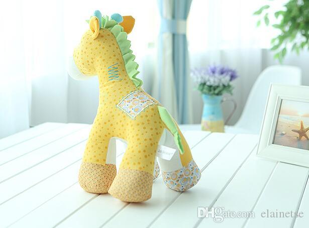2019 Lovely Cloth yellow Giraffe 33*20*38 CM Kid toys