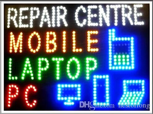 2017 Hot Sale custom Graphics 15.5*27.5 Inch indoor Ultra Bright flashing mobile/pc/laptop repair centre sign of led-