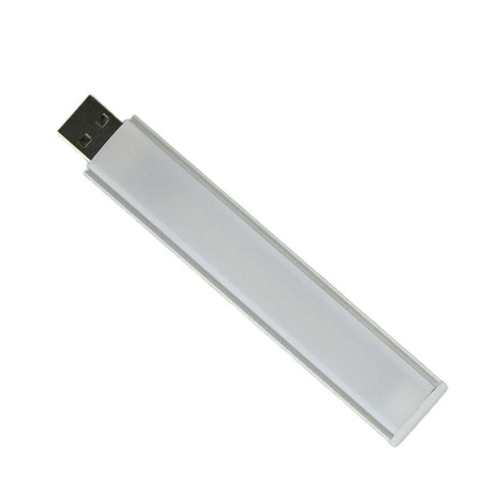 Interruptor táctil USB luz 2W 3W carcasa aluminio atenuación gradual 5152 SMD luz blanca fría 8LED y 14LED mini luz nocturna
