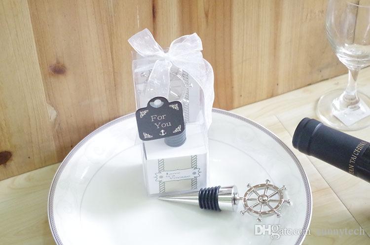 Favores do casamento champanhe vinho rudder rolha garrafa rolhas de bebidas criativas bar suprimentos presente do dia dos namorados WA2097