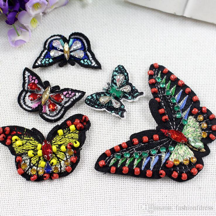 Iron On Patches For Clothing Butterfly Motif Parches Ropa Badges Embroidery Patch DIY Clothes Ornaments Sewing Accessories