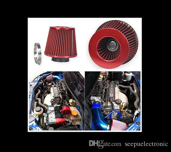 NOUVEAU filtre à air d'admission d'air universel KN 76mm filtre à air 3 pouces voiture filtre à air