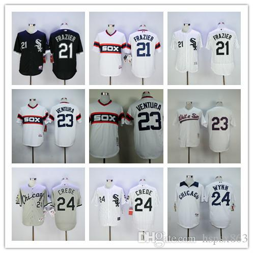e193a22c7 ... purchase 2017 chicago white sox 24 early wynn 21 todd frazier 23 robin  ventura baseball jersey