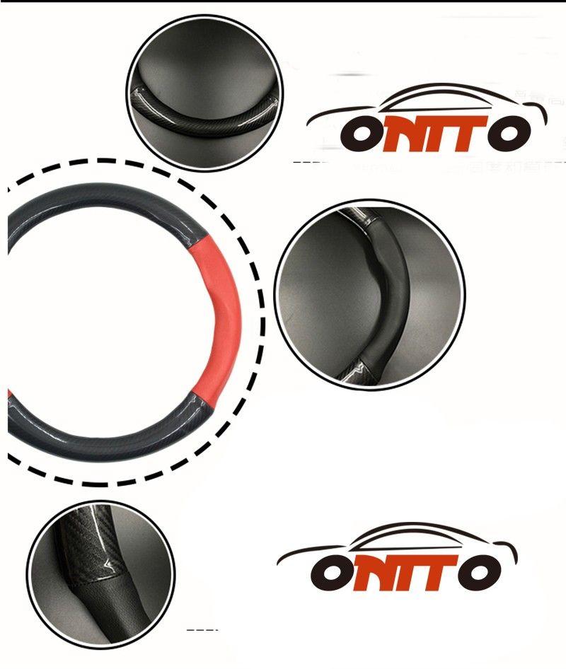 Hot sale 380MM Car Steer Wheel Cover For W211 W203 W204 W124 W201 AMG W202 W212 W220 W205 GLA Carbon Fiber&Leather steering wheel casing