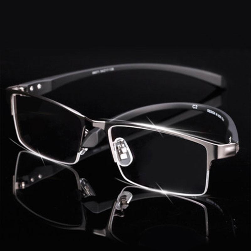 123137c20b Wholesale- Men Titanium Alloy Eyeglasses Frame for Men Eyewear ...