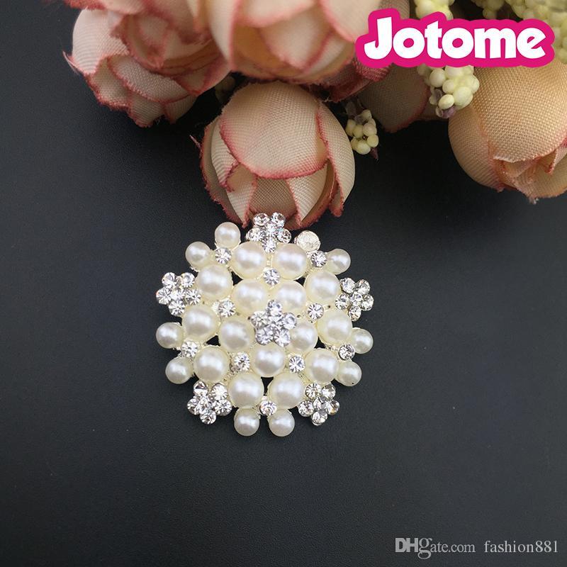 Blume Perle Strass Verschönerung flache Rückseite Tasten für Hochzeit Handwerk