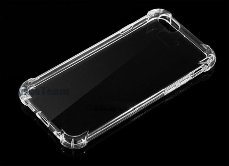 ShockProof Crystal Gel Gasbag High Clear funda para Samsung S8 S8 plus Note 5 Ultra-Thin transparente TPU funda trasera para iPhone 6s