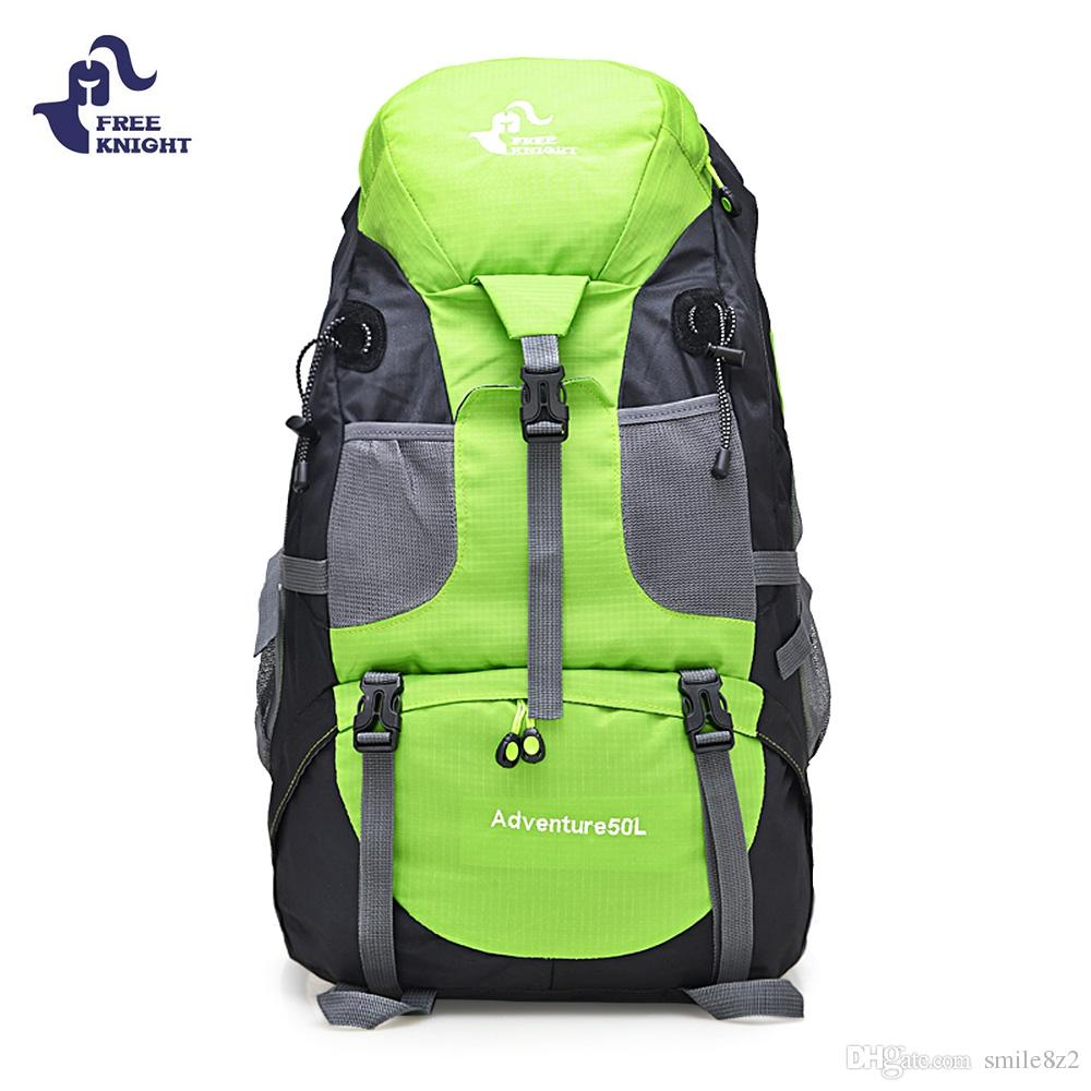 4c0b0907aebd 2019 FREEKNIGHT 50L Outdoor Backpack Camping Bag Waterproof Mountaineering Hiking  Backpacks Molle Sport Bag Climbing Rucksack +B From Smile8z2