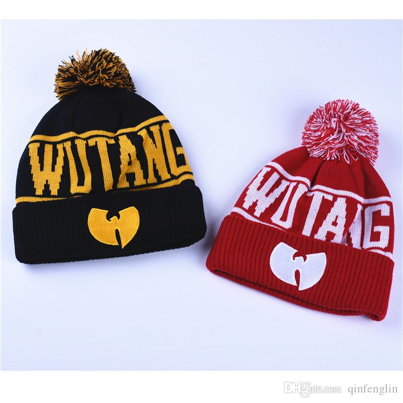 3367bc2486c5c WuTang Beanies New Fashion Winter WU TANG CLAN For Women Men Hiphop Knitted  Hats Wool Caps