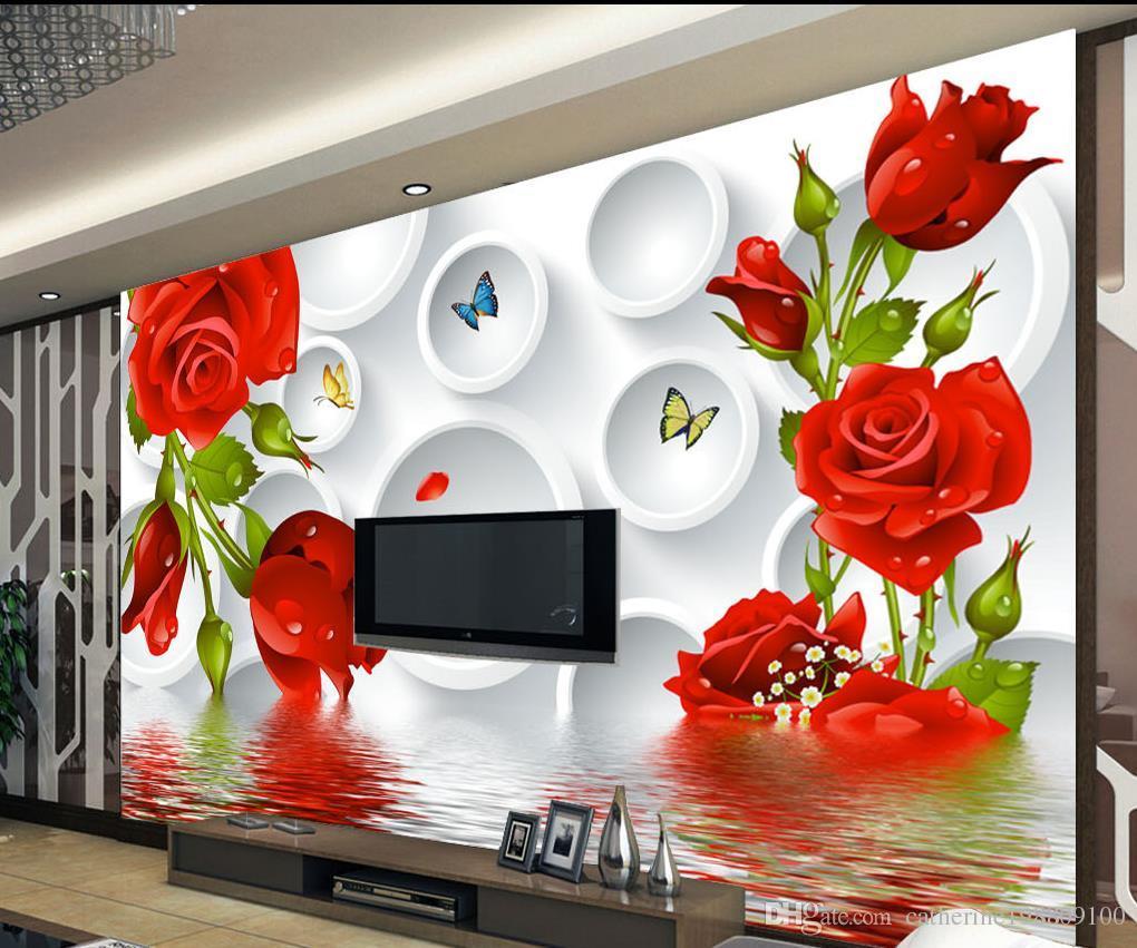 3d circle water roses tv wall background wall mural 3d wallpaper 3d circle water roses tv wall background wall mural 3d wallpaper 3d wall papers for tv backdrop wallpaper desktop widescreen wallpaper download from