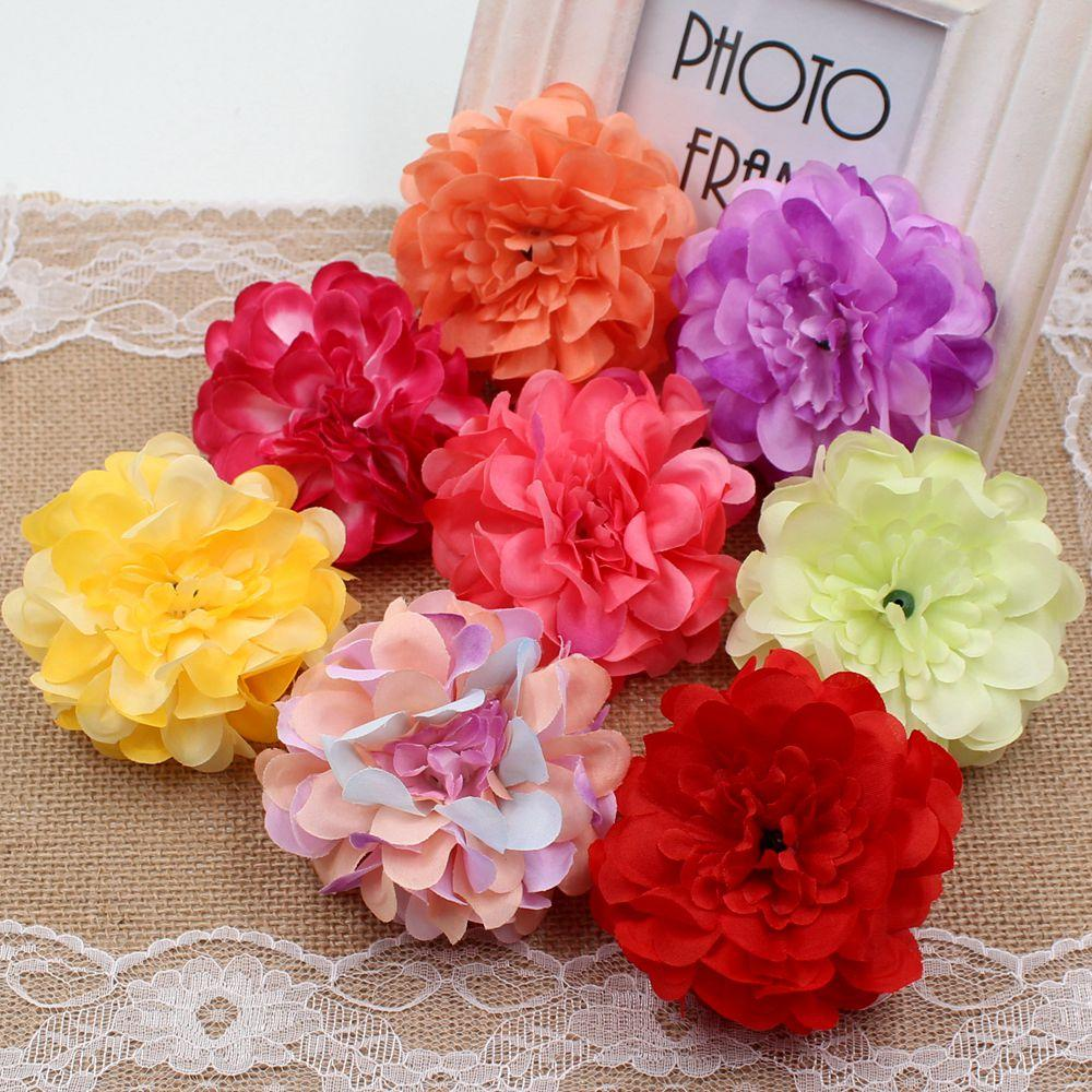 Online Cheap Wholesale 8cm Silk High Quality Peony Artificial Flower