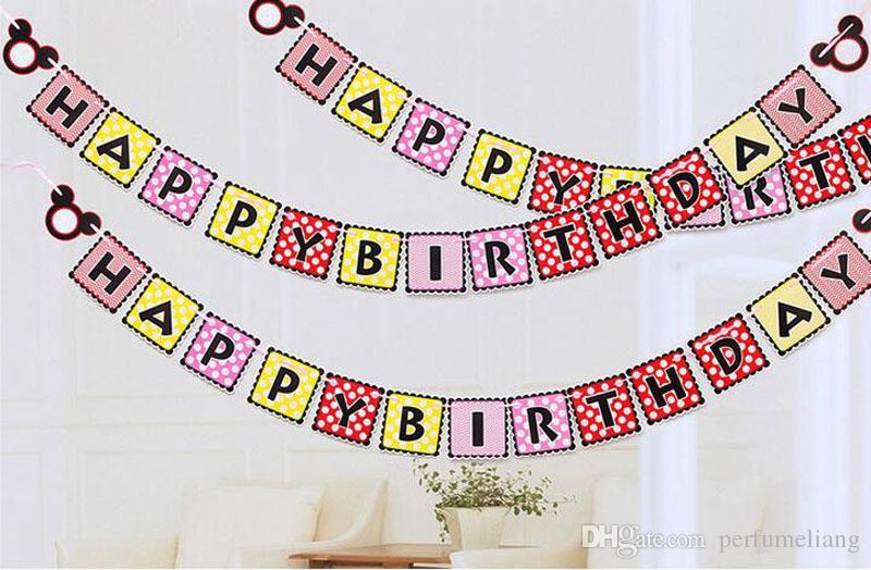 Baby Shower Cute Bunting Banner Dress Boy Girl Animal Cartoon Banderín Decoraciones de la fiesta de cumpleaños Kids Room Ornament Flags ZA2957