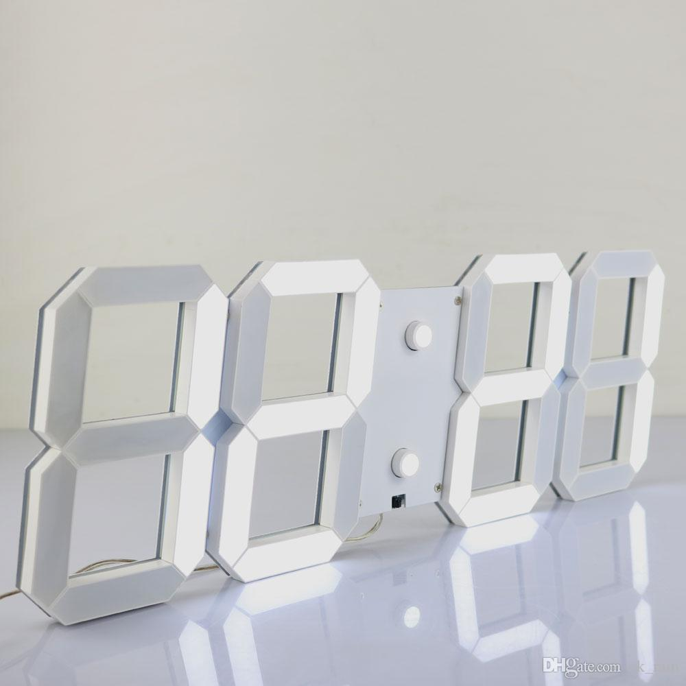 Modern Design 3d Jumbo Digital Led Wall Clock With Remote Control