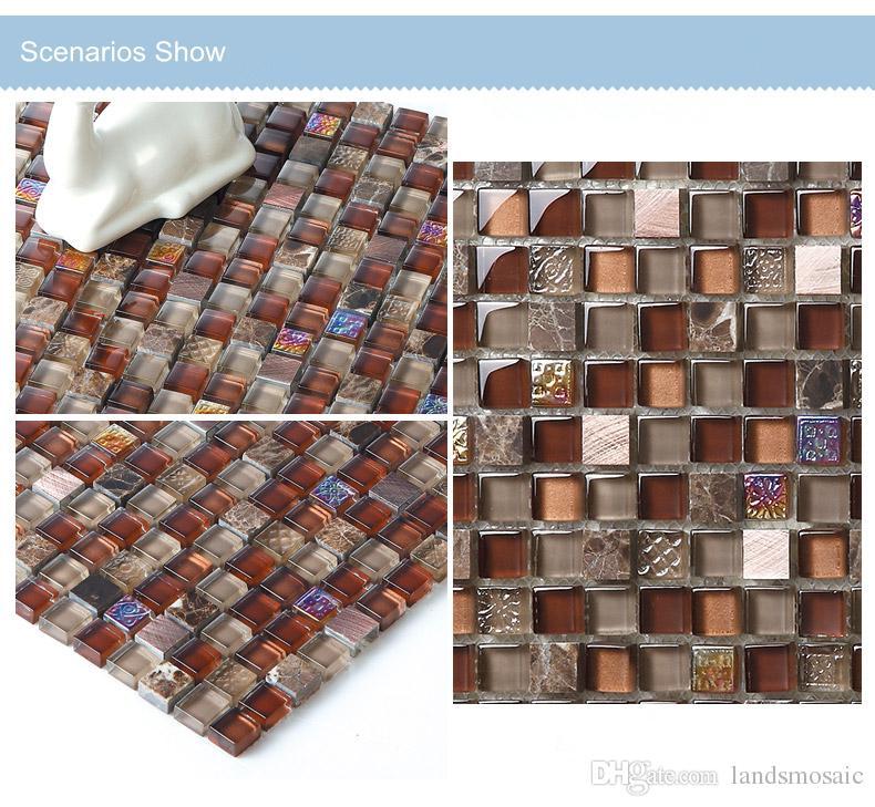 Home decor mosaic wall decor brown