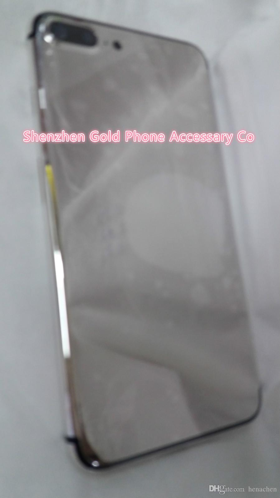 Platinum 24ct 24kt Gold Dubai Plating Back Housing Cover Skin Battery Door  For iPhone 7 7 Luxury Limited Edition 24Kt Golden for iphone7