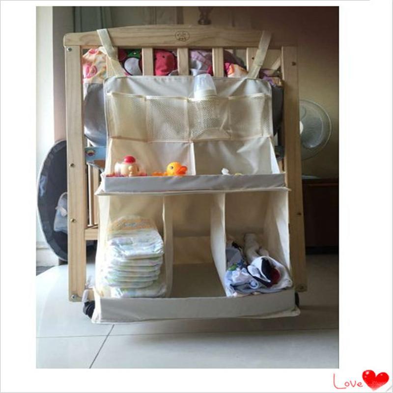 Neugeborene Kinderbett Ablagefächer Krippe Aufbewahrungstasche große Baby-Bett-Organizer Babybett Tasche Säugling hängende Aufbewahrungstasche kid350