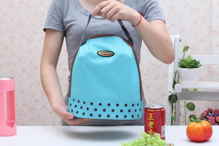 Portable Lunch Bags Canvas Handbag Thermal Cooler Insulated Picnic Bag Pouch Food Warmer Kit Hand Lunch Pouch DHL free ship
