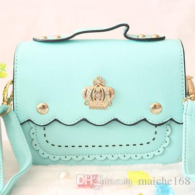 New baby children bag Messenger bag fashion cute crown girl princess handbag