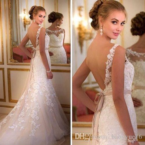 New White Ivory Lace Wedding Dress Bridal Gown Custom Size