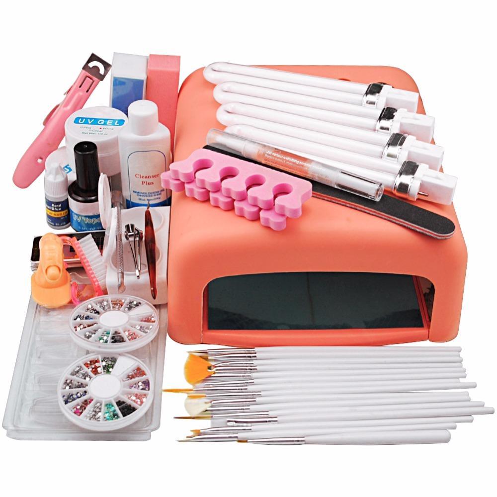 Wholesale Promotion 11.11 Uv Gel Nail Art Kit 36w Pink Uv Lamp Nail ...