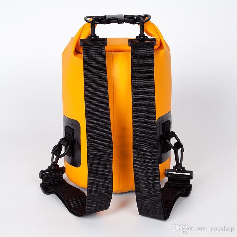 10L 20L PVC wasserdichte trockene Tasche für Bootfahren Kajak Angeln Rafting Camping Schwimmen mit Schultergurt schwimmen