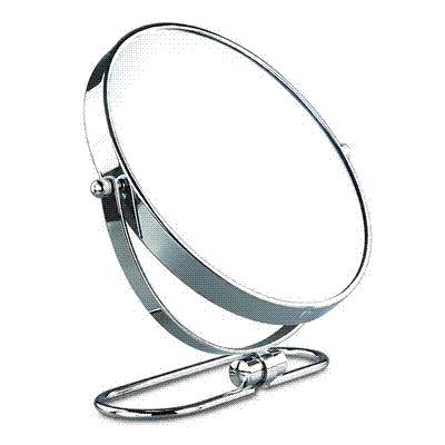 8 Inches Folding Desktop Makeup Mirror 10x Magnifying Double Side Mirror  Metal Portable Travel Cosmetic Mirror Wall Hanging Hollywood Mirror Oval  Mirror ...