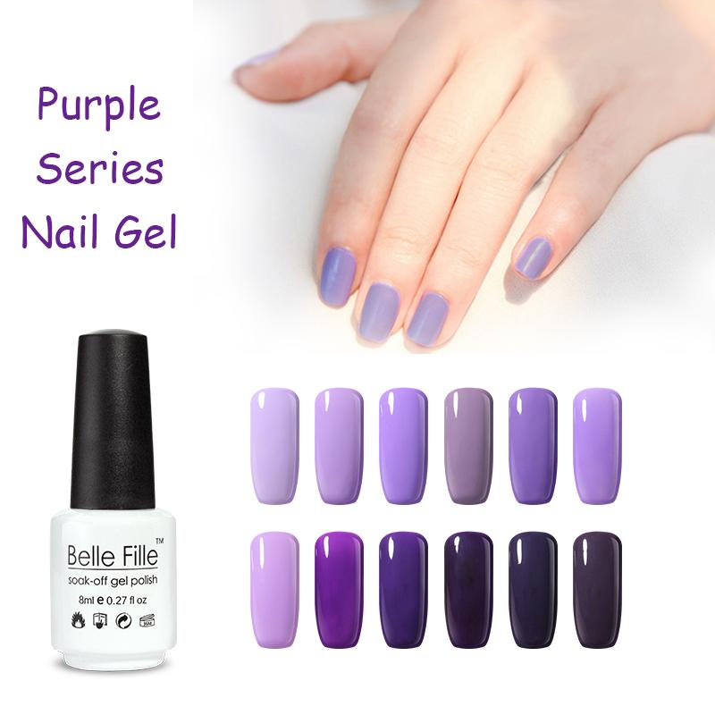 Wholesale 8ml Uv Nail Gel Polish Natural Royal Purple Color Manicure ...
