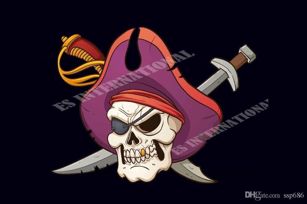 20pc Plata Tibetana 2 lados Cráneo Pirata Jolly Roger Fornituras PJ0146