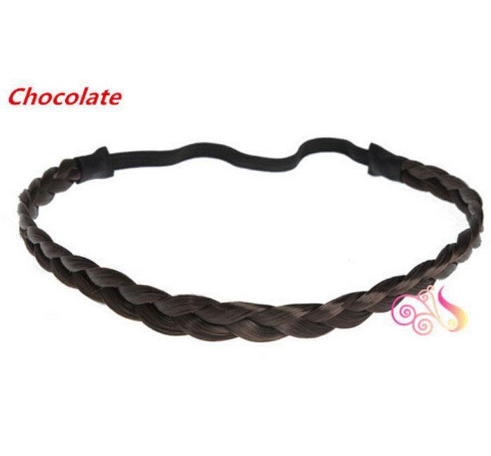 La fascia sintetica dei capelli degli accessori dei capelli di nuovi arrivi ha intrecciato la fascia elastica dell'intrecciatura della fascia della treccia della treccia intrecciata Trasporto libero