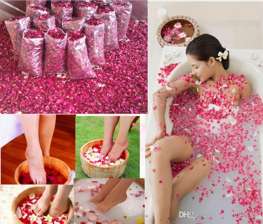 Natural Dried Chinese Rose Petals Bath Skin Care Bubble Milk Bath Foot Body SPA 50g, 100g, 500g, 1000g