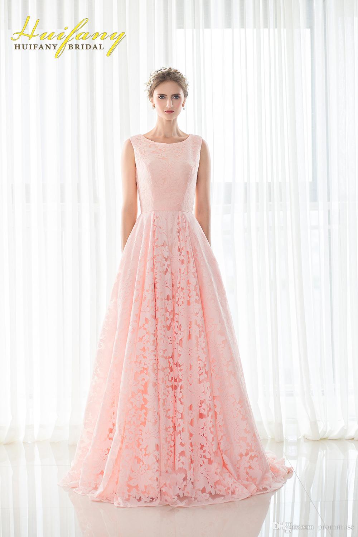 Lange abendkleider in rosa